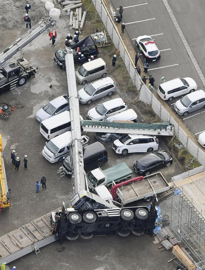 車 今日 クレーン 事故