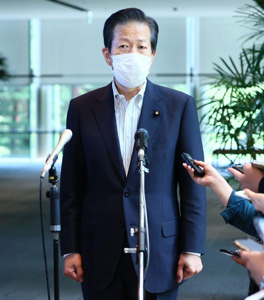 公明党の山口那津男代表(春名中撮影)