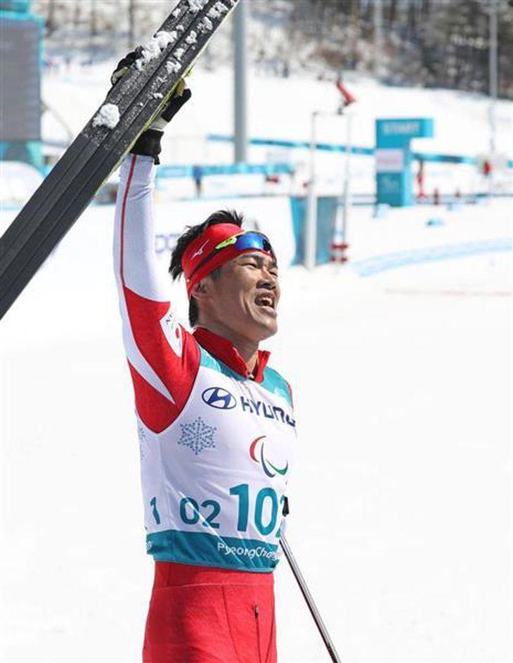 【平昌パラ】新田佳浩が金メダル ノルディックスキー距離男子10キロクラシカル立位