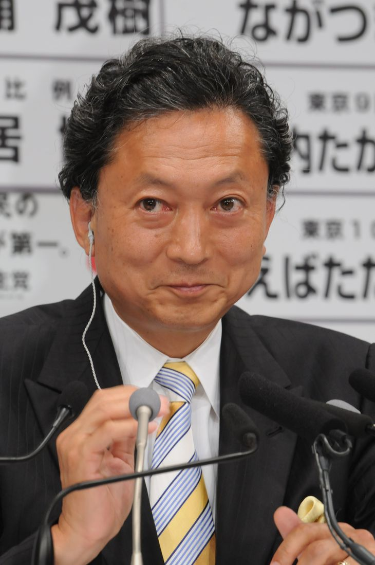鳩山由紀夫元首相(植村光貴撮影)