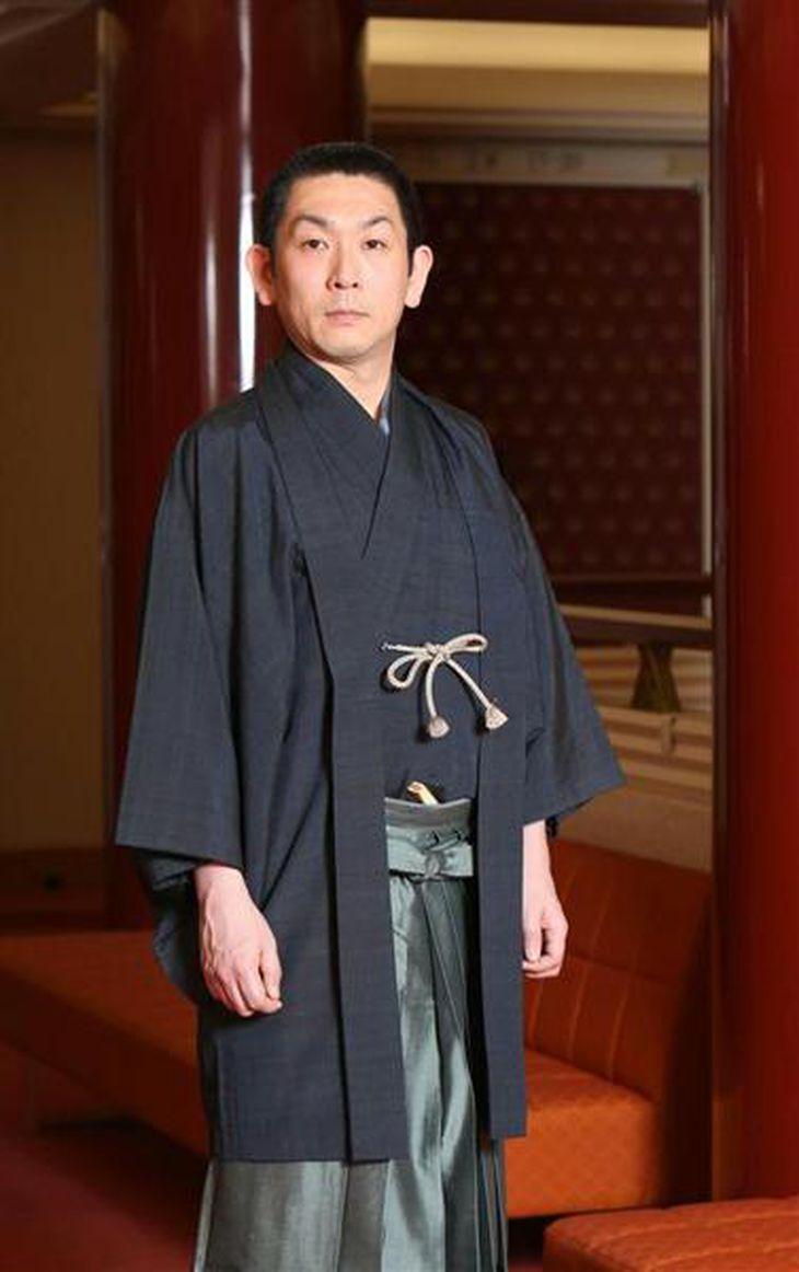 歌舞伎俳優・坂東亀三郎さん(菊本和人撮影)