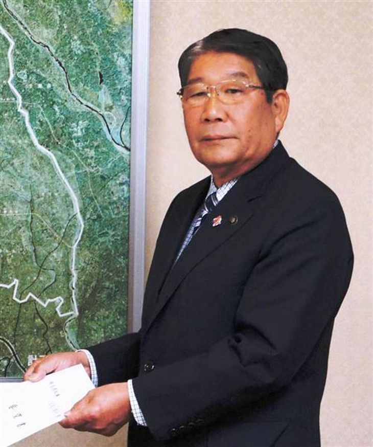 前上尾市長の島村穣容疑者=平成24年10月、埼玉県庁