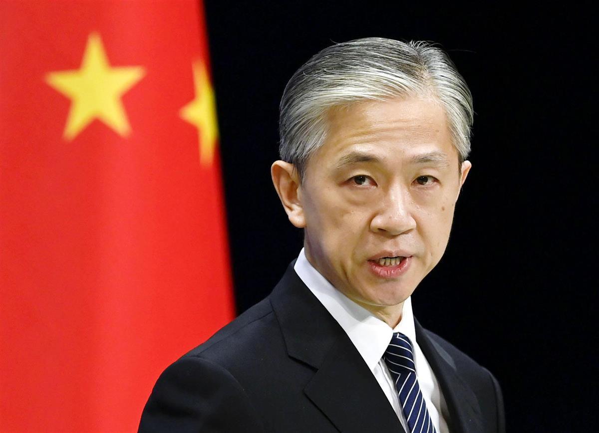 中国外務省の汪文斌氏=北京(共同)