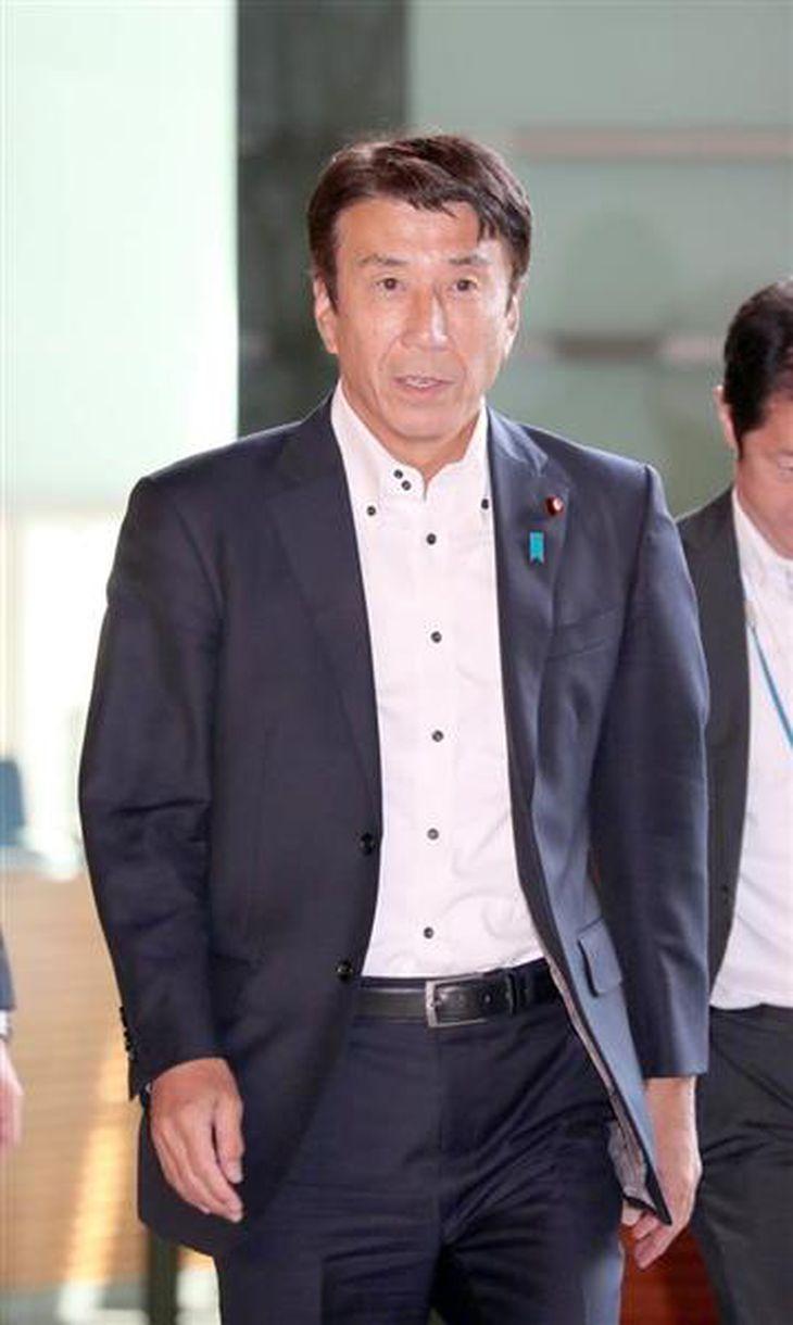 斎藤健農水相=18日、首相官邸(春名中撮影)