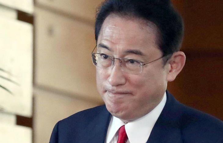 岸田文雄首相=首相官邸(矢島康弘撮影)
