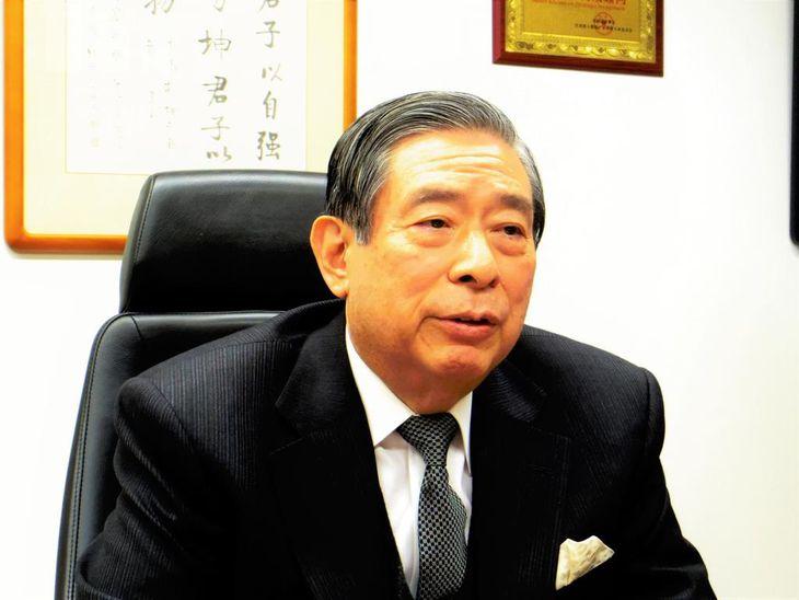 SBIホールディングスの北尾吉孝社長(米沢文撮影)