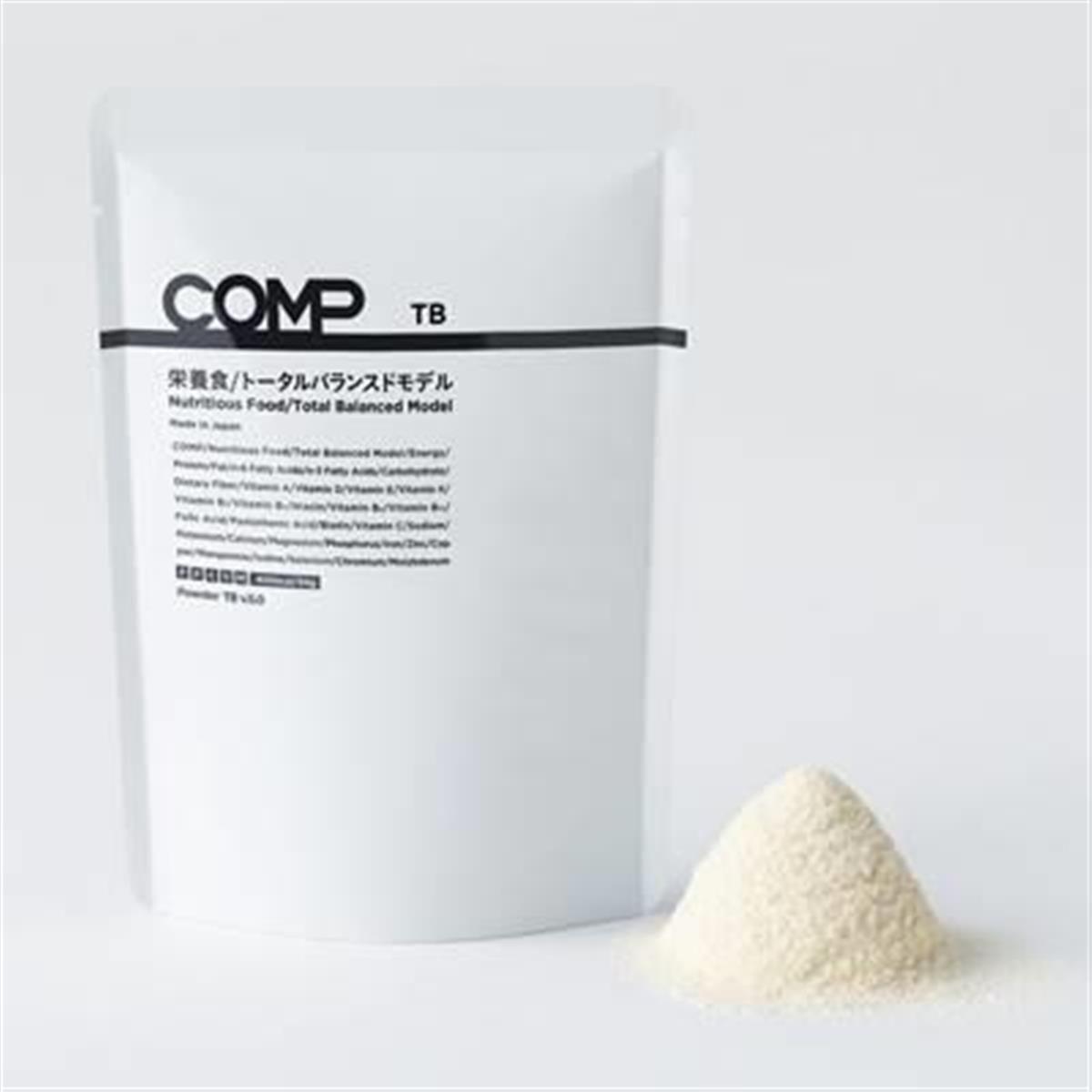 COMPのトータルバランスドモデル。粉末を水に溶かして飲む