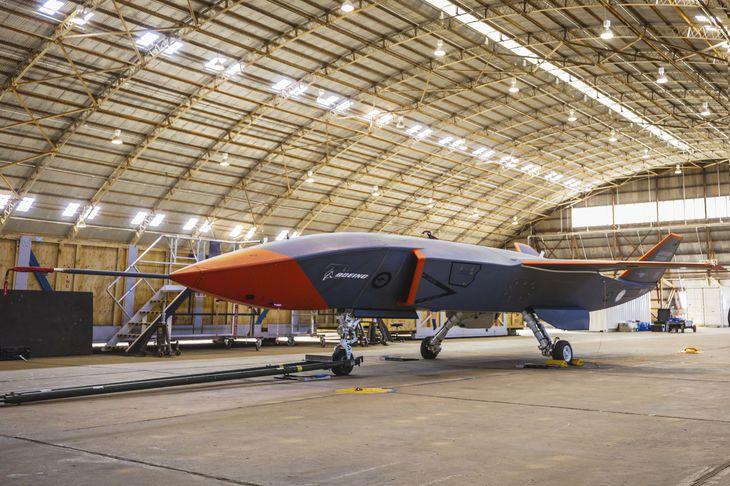 ボーイングが開発中の無人機ドローン=オーストラリア南部サウスオーストラリア州(ボーイング提供・共同)