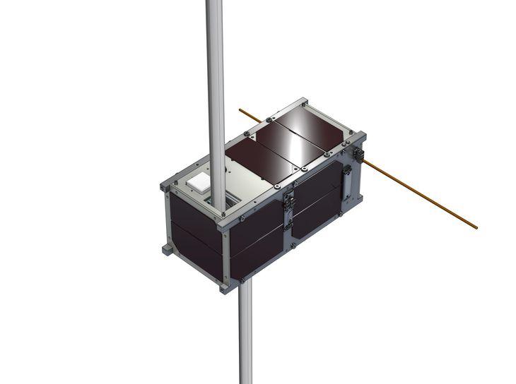 高専生らが開発した衛星「KOSEN―1」(JAXA提供)