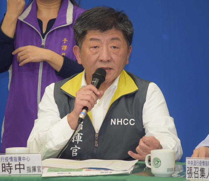 台湾の陳時中衛生福利部長(田中靖人撮影)