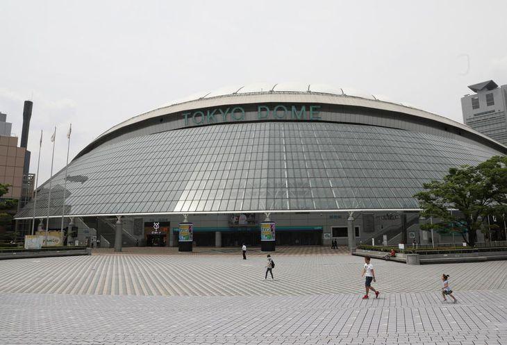 巨人対西武の練習試合が中止となった東京ドーム=東京都文京区(福島範和撮影)