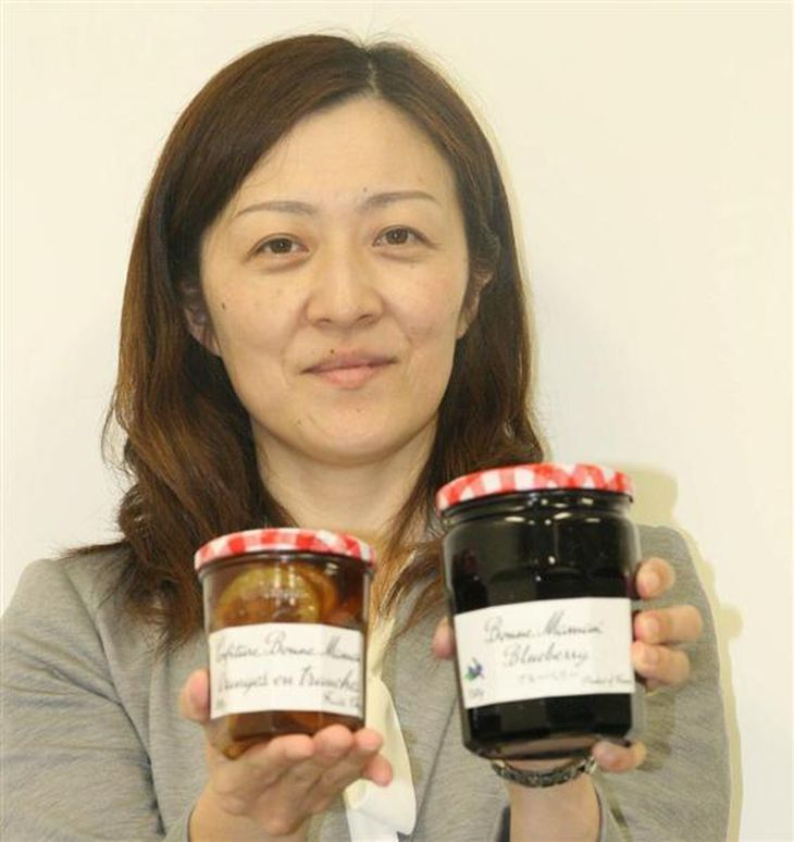 エスビー食品が8月1日から国内販売を引き継ぐフランスの人気ジャム「ボンヌママン」(永田岳彦撮影)