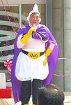 人気漫画に登場するキャラクターに扮した自民党の石破茂元幹事長=4月1日、鳥取県倉吉市(鳥取マガジン提供)