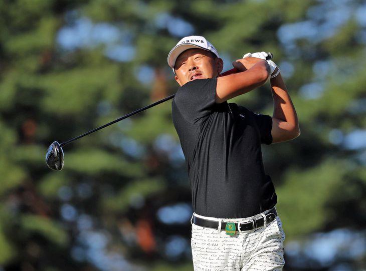 【男子ゴルフ】日本オープン 初日 10H 8アンダーで終了した岩田寛=琵琶湖CC(撮影・中島信生)