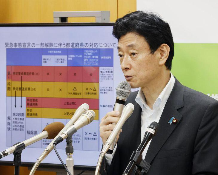 西村経済再生相=東京・永田町