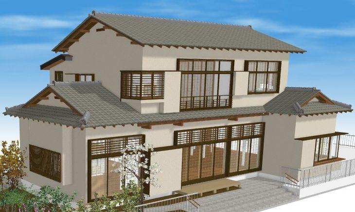 有吉佐和子の復元邸宅の完成予想図(和歌山市提供)