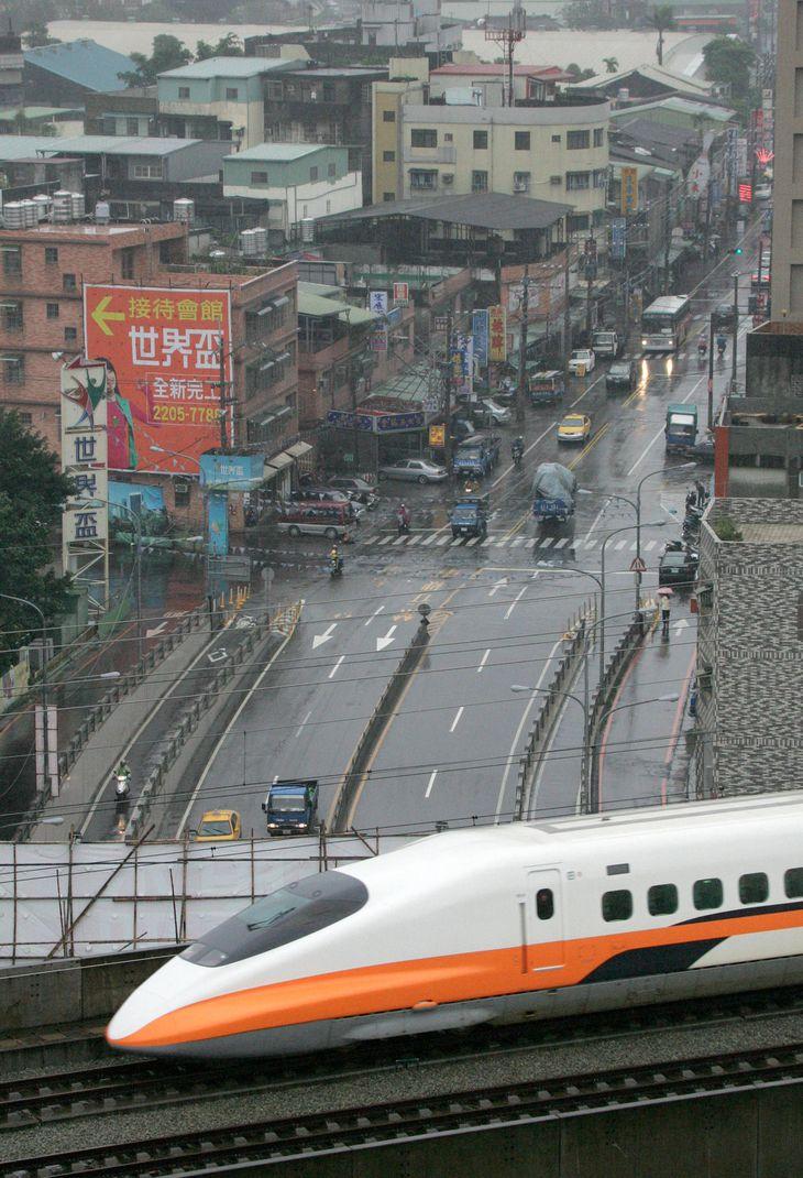 2007年開業時の台湾高速鉄道(新幹線)