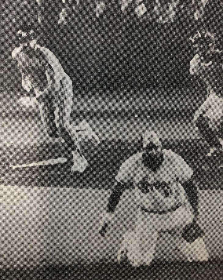 バースVSアニマルの対決は初球を中前打したバースの勝ち=1986年、後楽園球場