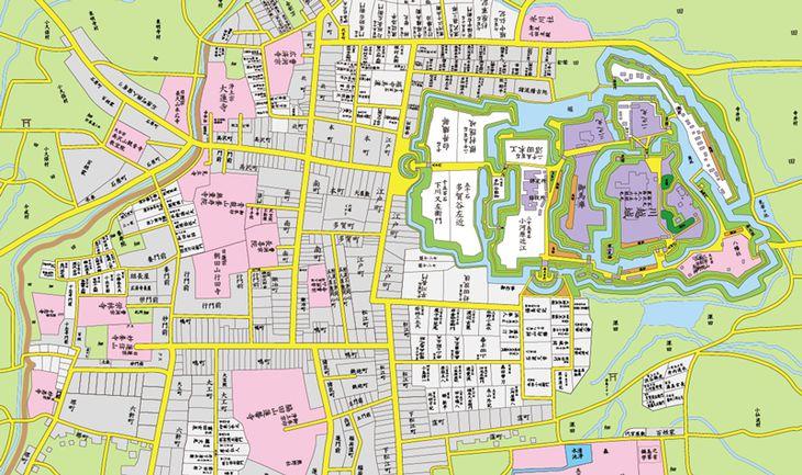 埼玉県川越市の古地図(フジテレビ提供)