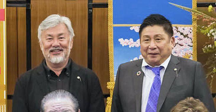 井ノ口忠男容疑者(右)と籔本雅巳容疑者(日大HPから)