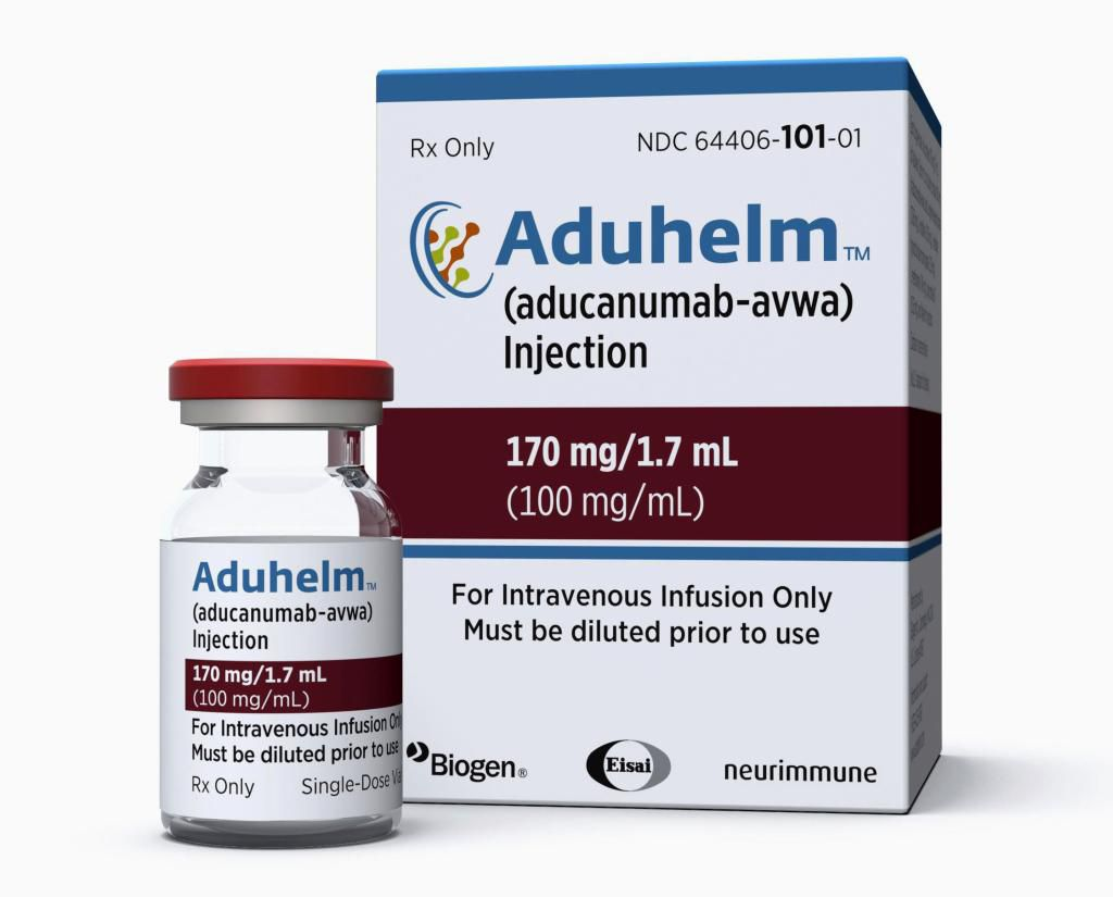 新薬「アデュカヌマブ」(バイオジェン提供、AP