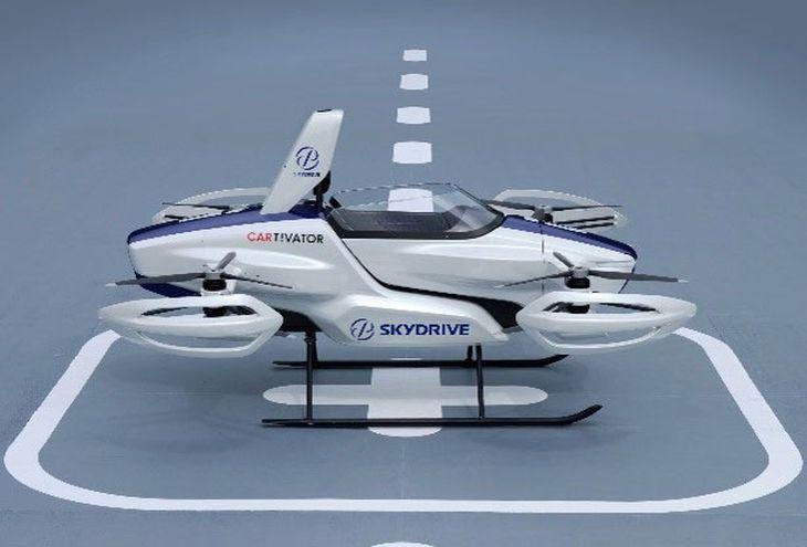 「空飛ぶ車」のイメージ(大阪府提供)