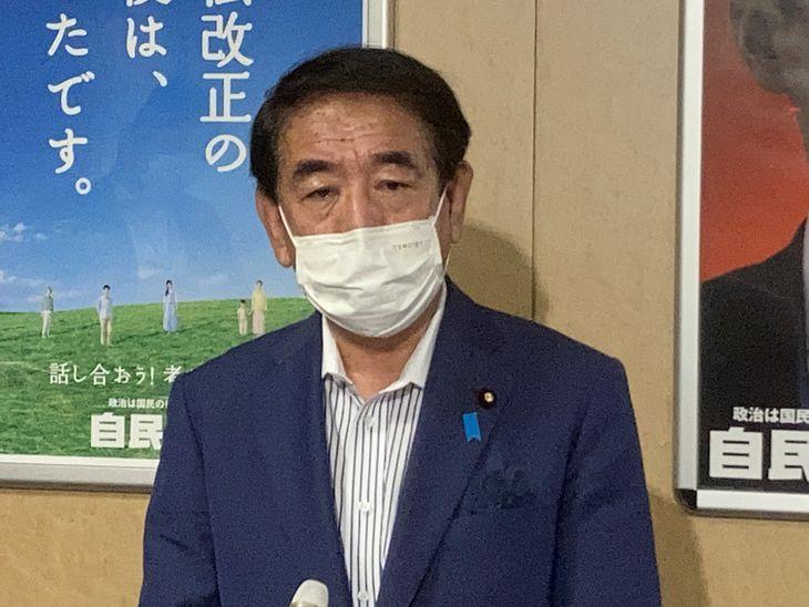 下村博文政調会長(沢田大典撮影)