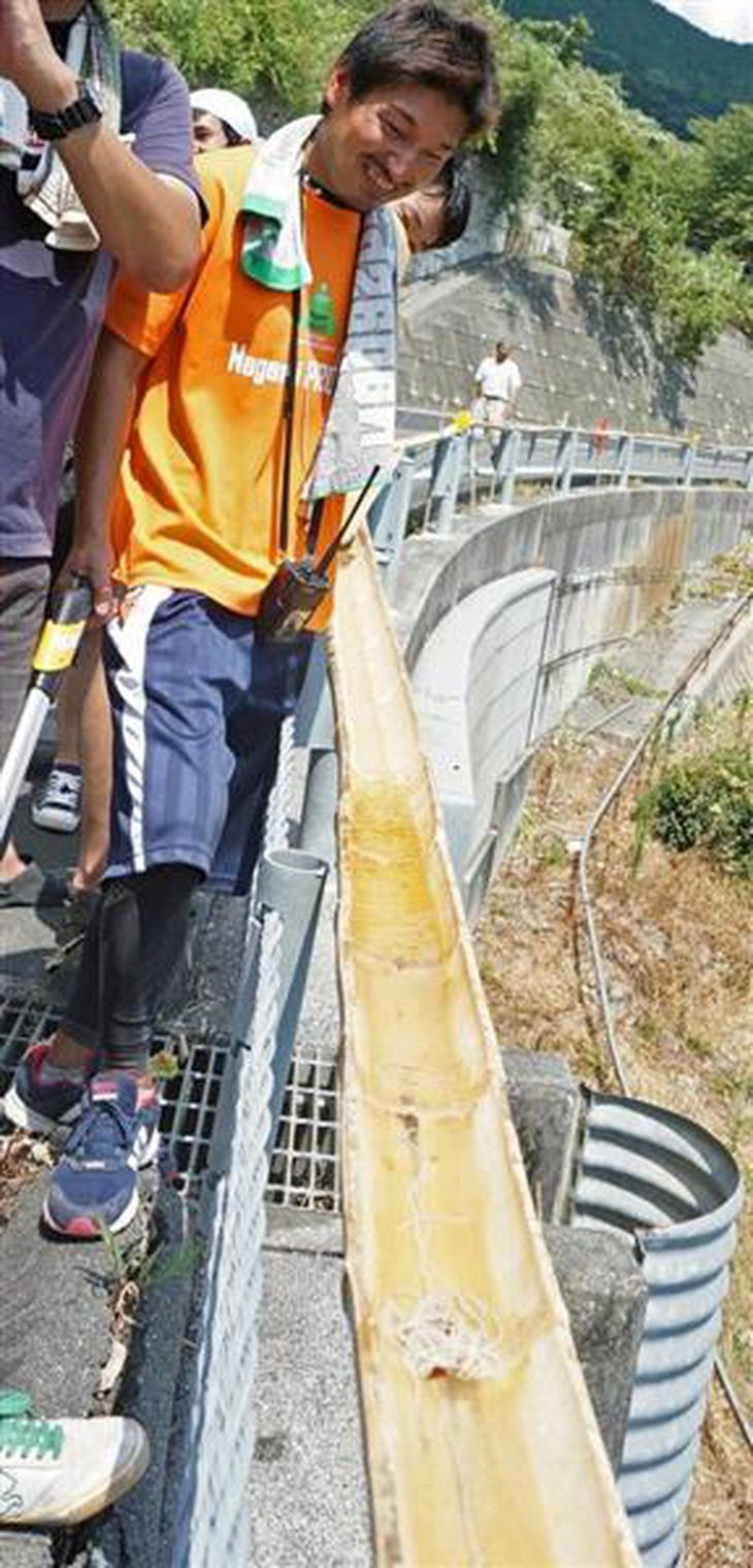 流しそうめん、ギネス記録 奈良で3317メートル 愛媛では未公認で3.5キロ
