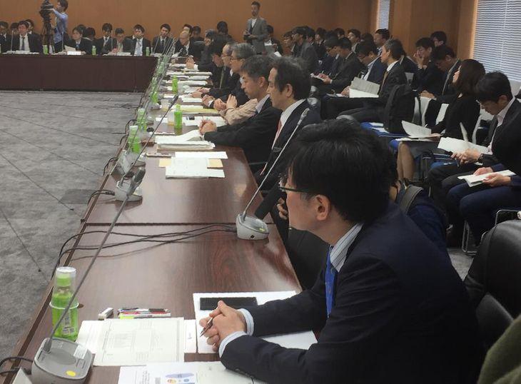 金融庁の仮想通貨に関する研究会=東京都千代田区