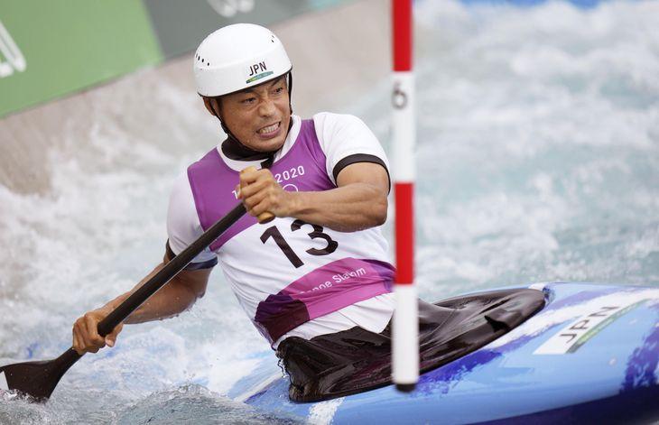 東京五輪のカヌースラローム男子カナディアンシングルで10位だった羽根田卓也=7月26日、カヌー・スラロームセンター
