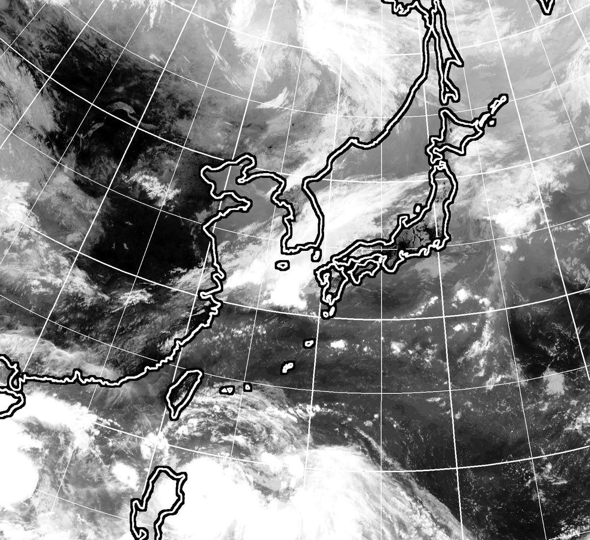 9月10日11時現在のひまわり雲画像