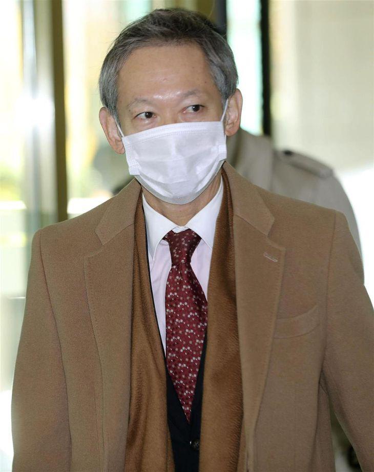 韓国外務省庁舎を訪れた滝崎成樹アジア大洋州局長=29日、ソウル(聯合=共同)