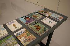 フランスなど外国で出版されている谷口ジローの作品=令和3年2月、鳥取県米子市の同市美術館