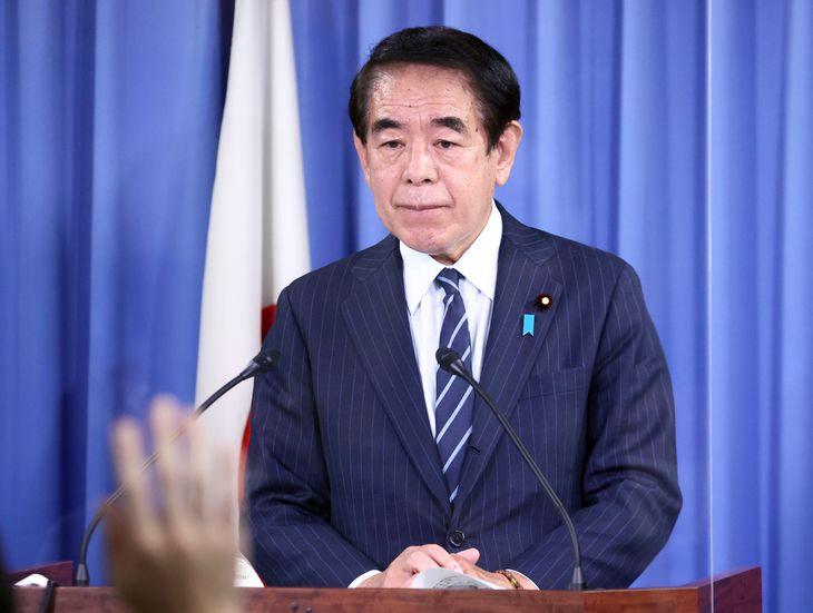 自民党・下村博文政調会長(春名中撮影)