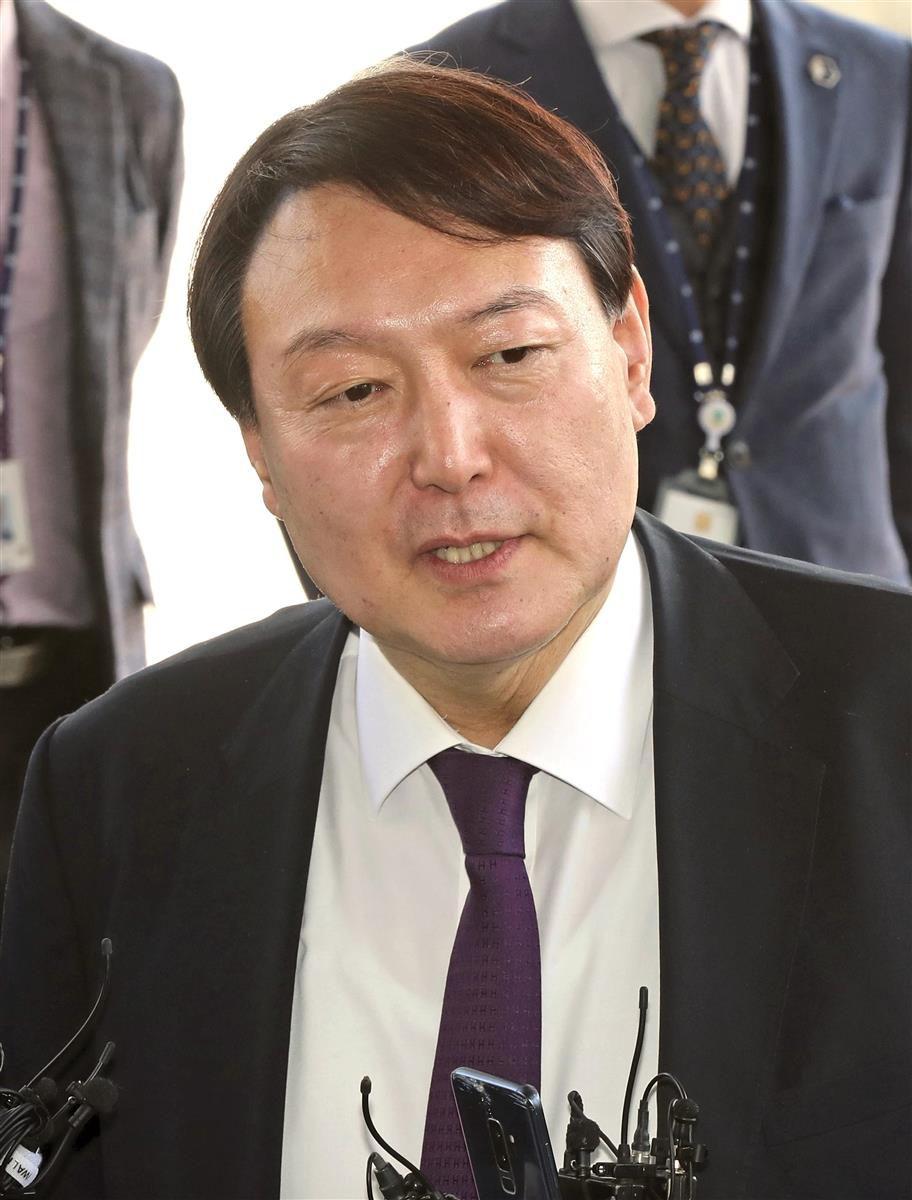 支持率トップの尹前検事総長(聯合=共同)