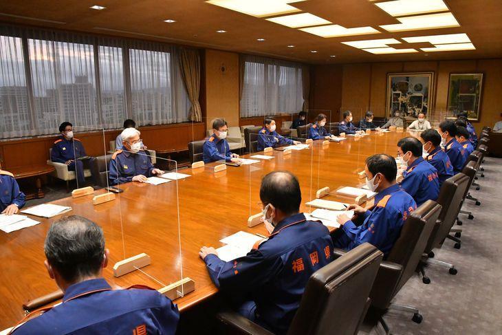 福岡県が開いた対策本部会議