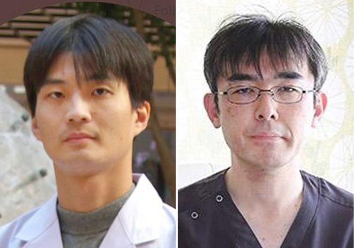 山本直樹(左、ツイッターから)と大久保愉一(クリニックのホームページから)の両被告