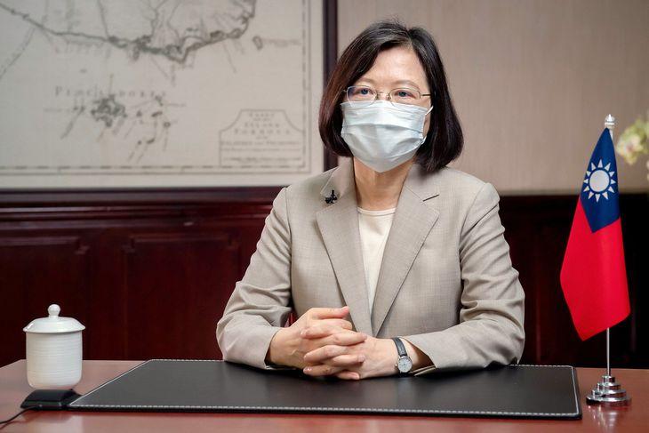 台湾の蔡英文総統=台北(総統府提供・共同)