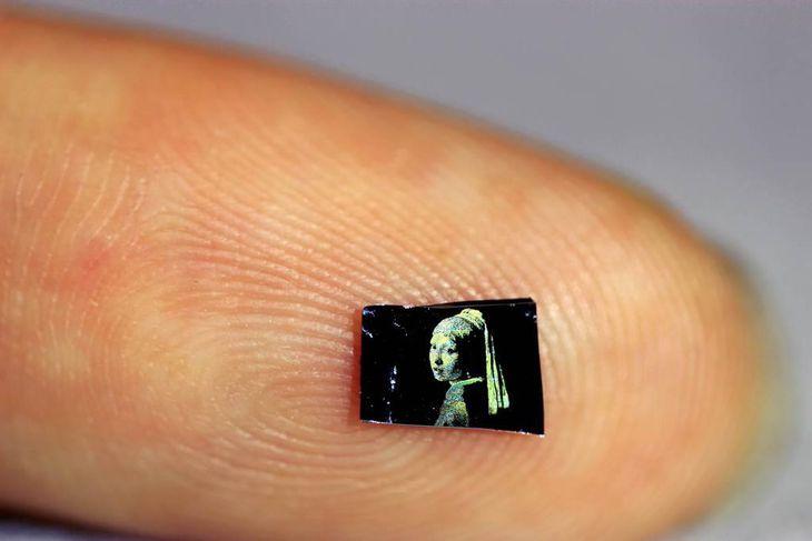 開発した新技術を使って印刷されたヨハネス・フェルメールの「真珠の耳飾りの少女」(京都大iCeMS提供)