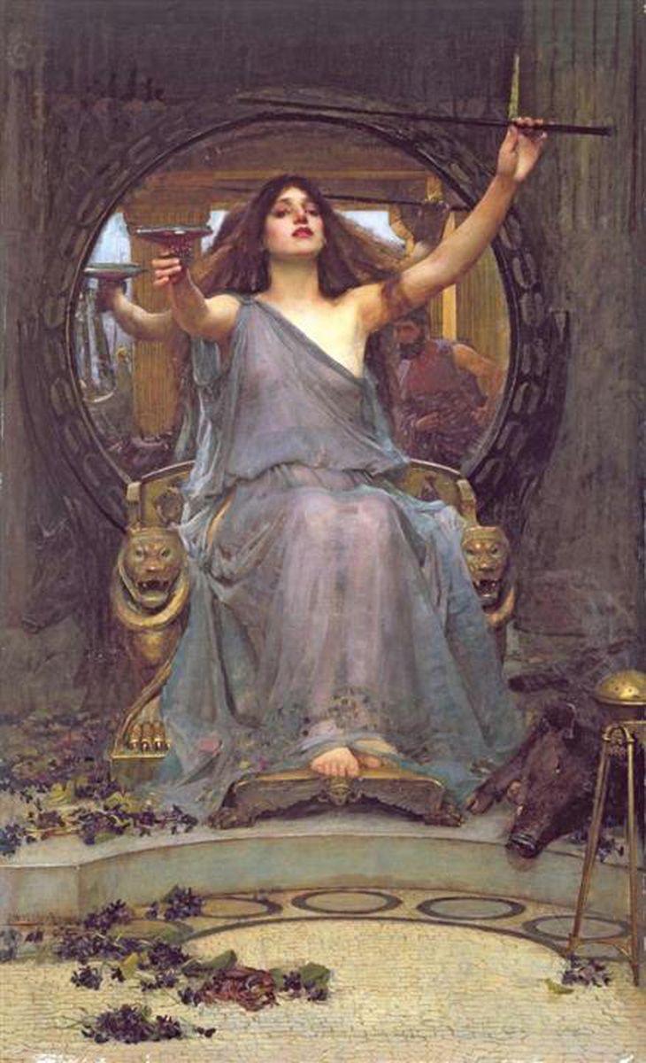 ジョン・ウィリアム・ウォーターハウス  《オデュッセウスに杯を差し出すキルケー》 1891年 油彩・カンヴァス オールダム美術館蔵 (c)Image courtesy of Gallery Oldham