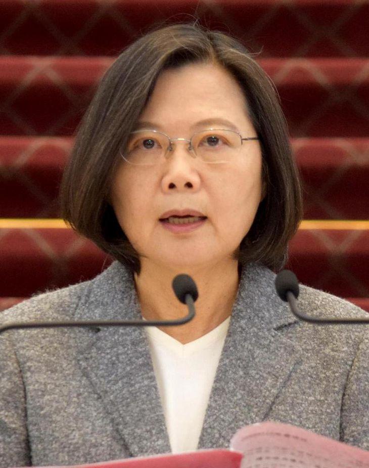 台湾の蔡英文総統(田中靖人撮影)