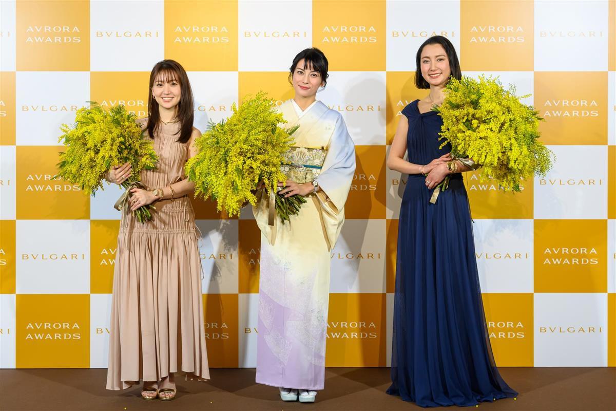 イベントに出席した左から大島優子、柴咲コウ、伊藤詩織