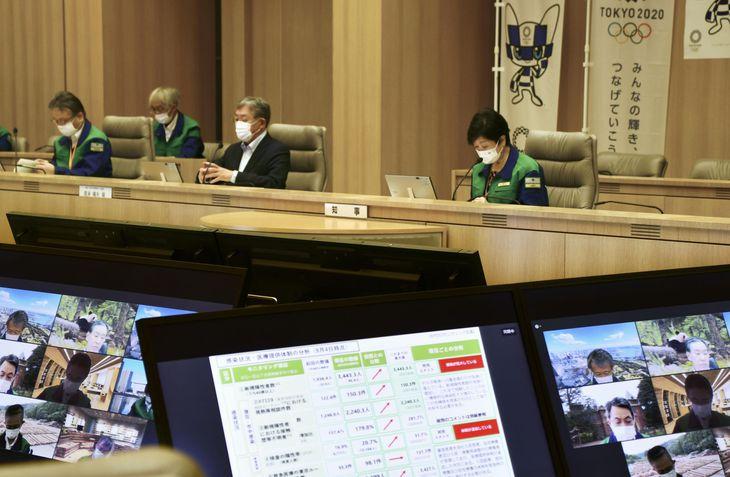 8月に行われたモニタリング会議=東京都庁