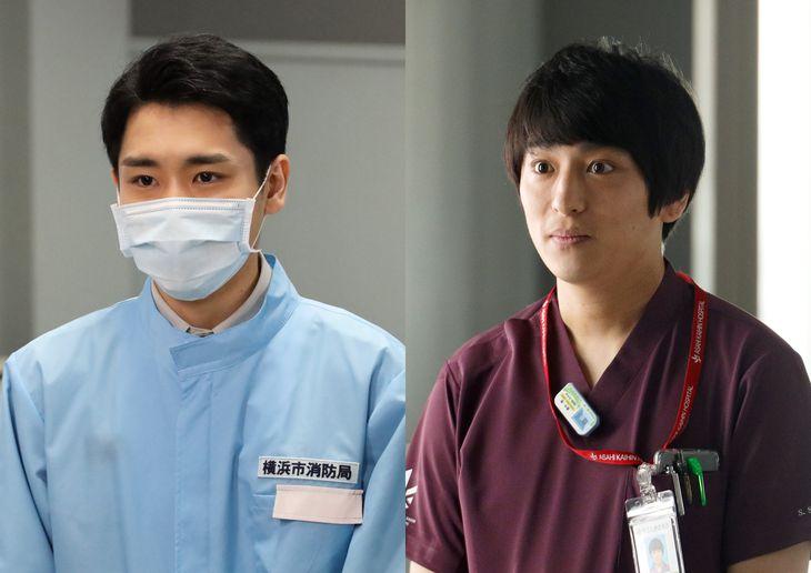 今後の物語に大きく関わる役どころでゲスト出演の泉澤祐希(左)と古舘佑太郎(C)フジテレビ