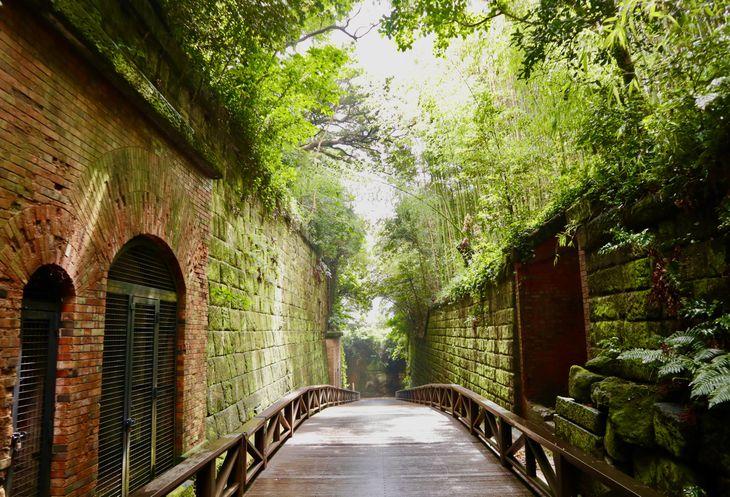 猿島を含む東京湾要塞は国史跡に指定されている