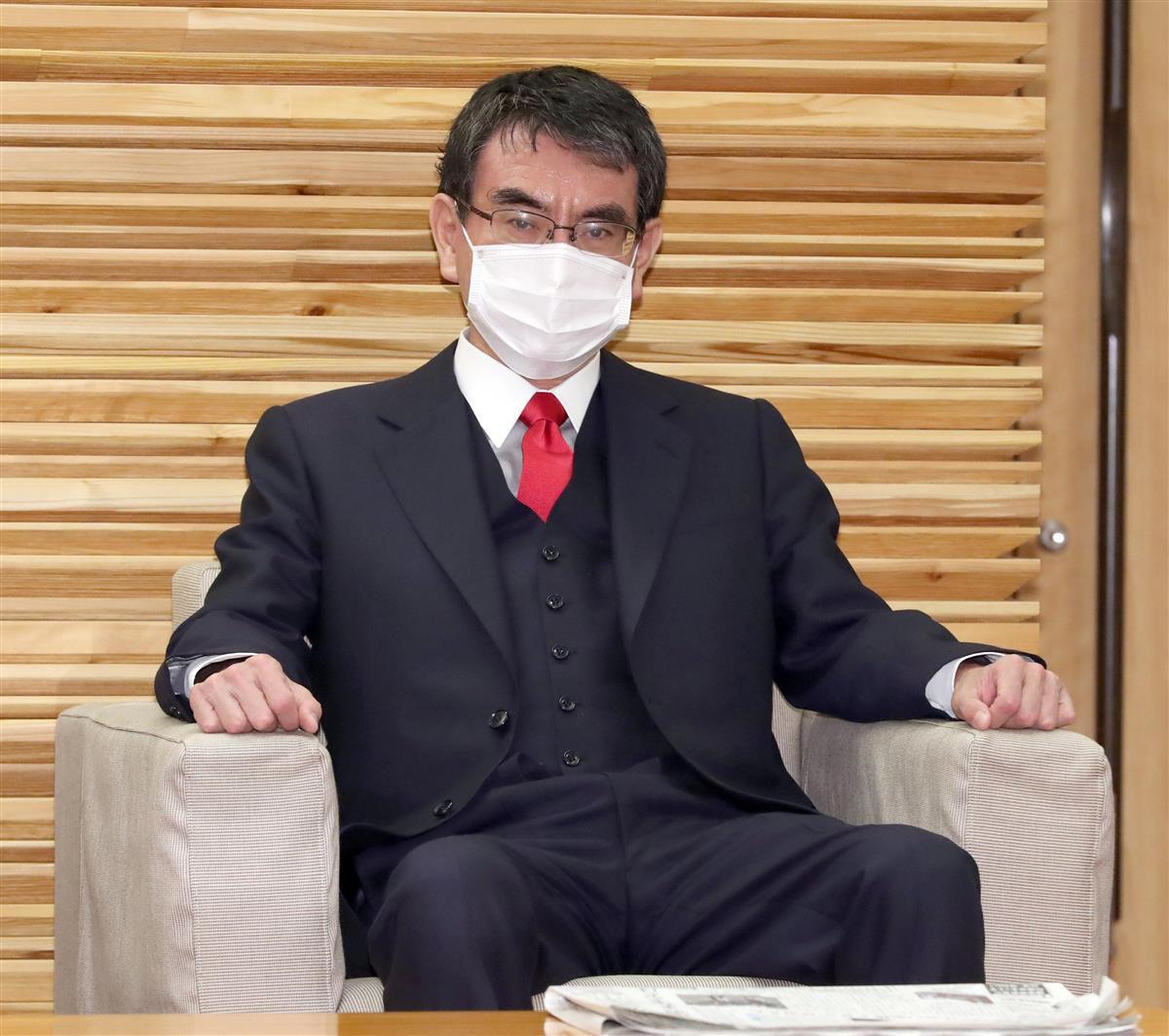 河野太郎行政改革担当相、ワクチン接種担当相(春名中撮影)