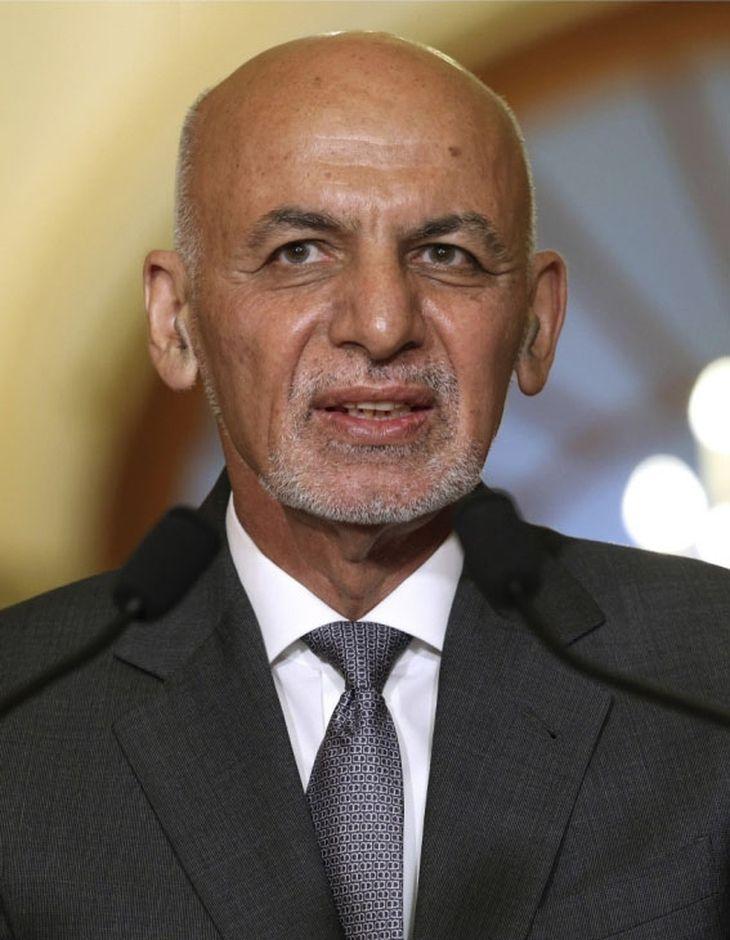 アフガニスタンのガニ元大統領(ゲッティ=共同)