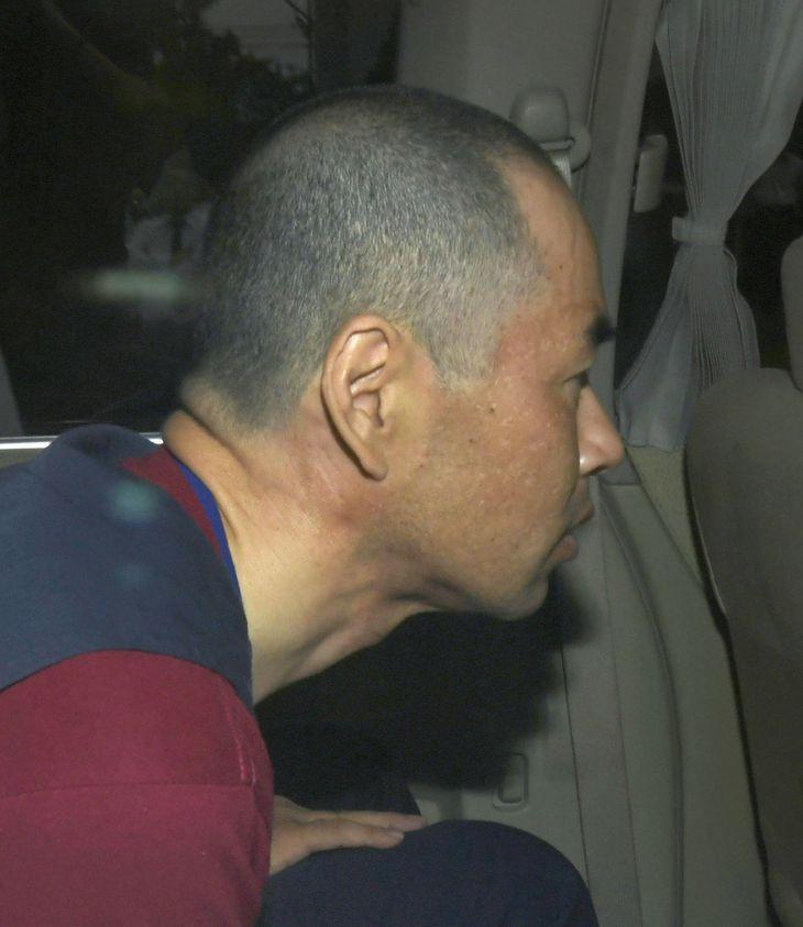 送検時の勝田州彦被告=平成30年