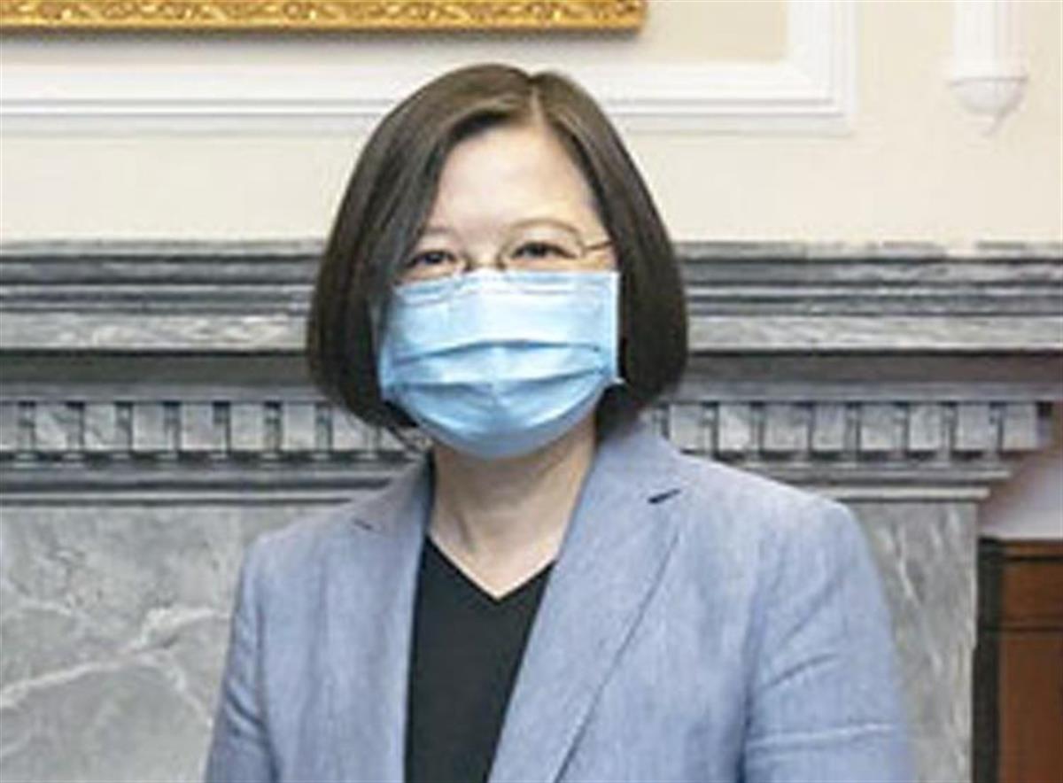 台湾の蔡英文総統(台湾総統府提供・共同)