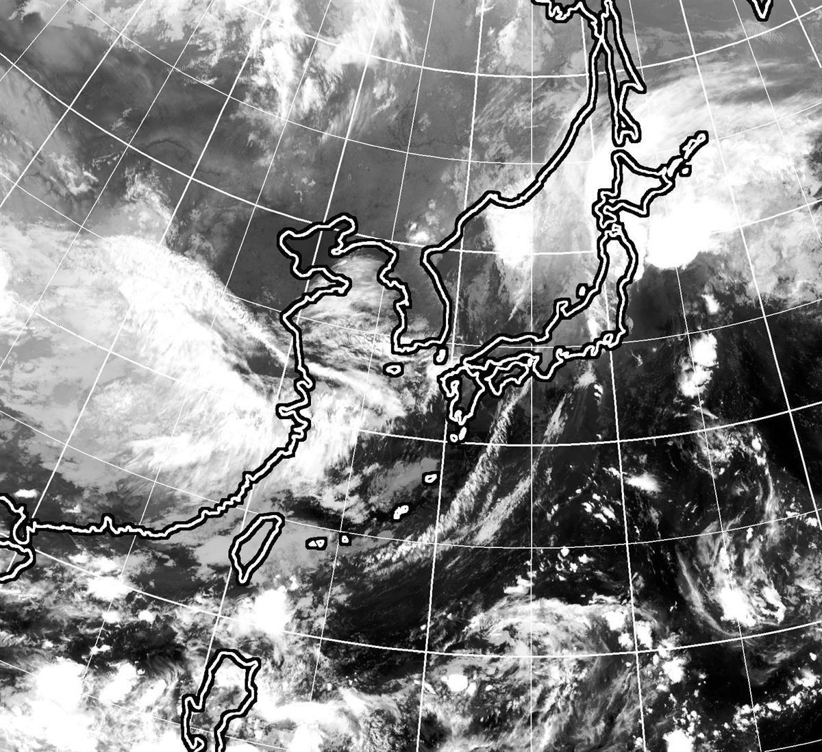 25日午後9時現在のひまわり雲画像